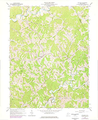YellowMaps Pullman WV topo map, 1:24000 Scale, 7.5 X 7.5 Minute, Historical, 1964, Updated 1977, 26.9 x 22 in - Paper