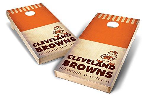 (PROLINE NFL 2'x4' Cleveland Browns Cornhole Set - Nostalgia Design )