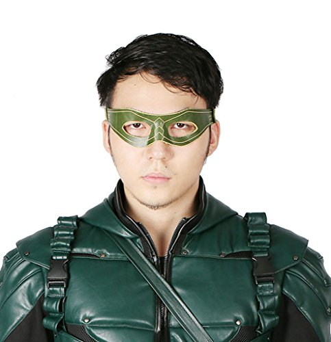 xcoser Arrow Oliver Eye Mask Props for Halloween Costume Green -