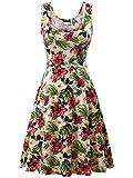 FENSACE Womens Tank Top Midi Sun Dresses 1801610 Large