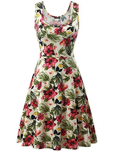 (FENSACE Womens Floral Sundress Casual Dresses for Women 1801610 XLarge)