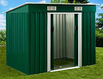 Caseta de jardín cobertizo de jardín de metal cubierto invernadero cobertizo: Amazon.es: Hogar