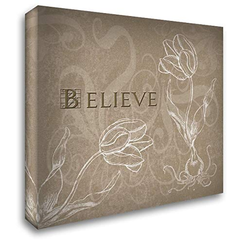 Believe 20x20 Gallery Wrapped Stretched Canvas Art by Tanner, Jan