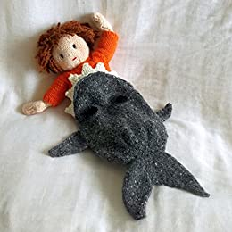 Amazon Com Shark Attack Dolls Blanket Knitting Pattern Jesse And