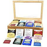 Gift Universe 40 Pieces Tea Bag Sampler comes with FREE 8 Section Tea Storage Box!