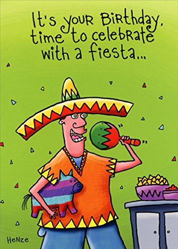 - Birthday Fiesta - Oatmeal Studios Funny Birthday Card