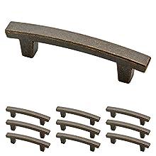 Franklin Brass P29519K-WCN-B Warm Chestnut 3-Inch Pierce Kitchen or Furniture Cabinet Hardware Drawer Handle Pull, 10 pack