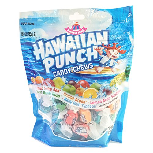 Hawaiian Punch Candy Chews Stand Up Bag 8.75 oz -