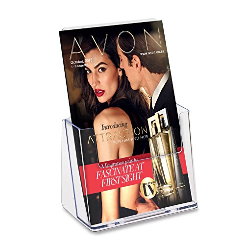 Source One Premium Counter Top Bifold 6-Inch Wide Acrylic Brochure Holder (S1-CT-BI) (2 Pack)