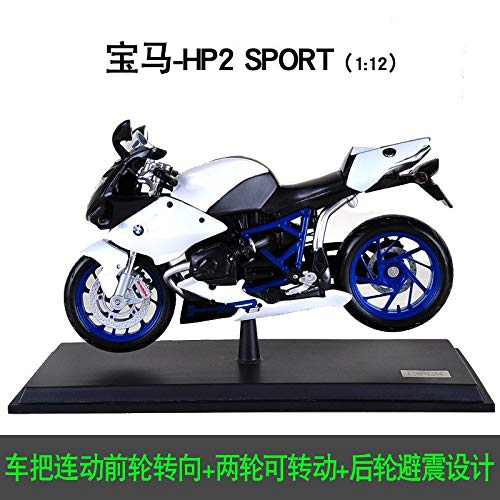 Generic 1 12 34 Styles Alloy Motorcycle Model High Simulation Diecast Metal Motorcycle Toys Rear Wheel with Suspension for Kid Gift 9