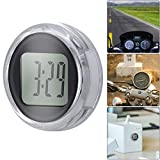 HaavPoois Mini IP64 Waterproof Universal Digital Clock, Stick-On Motorcycle Clock Up to 1 Year Battery Life(1PCS)