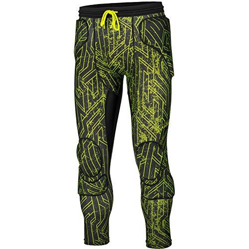 Reusch CS Padded 3/4 Goalkeeper Pant Size XL Black/Lime Green