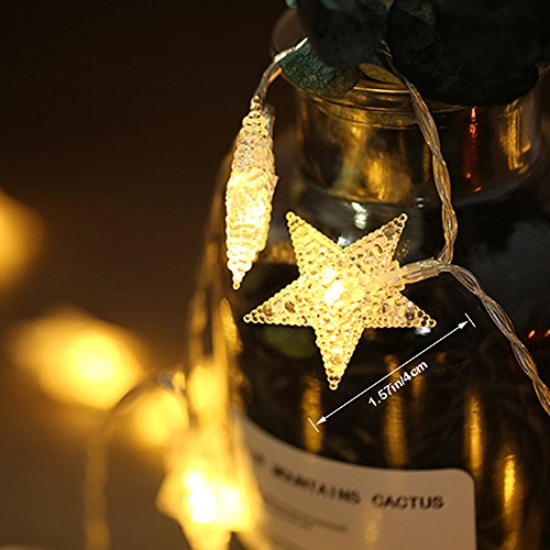 AceList 40 LED Original Star String Lights for Outdoor, Gardens, Homes, Wedding, Christmas Party and Holiday Décor