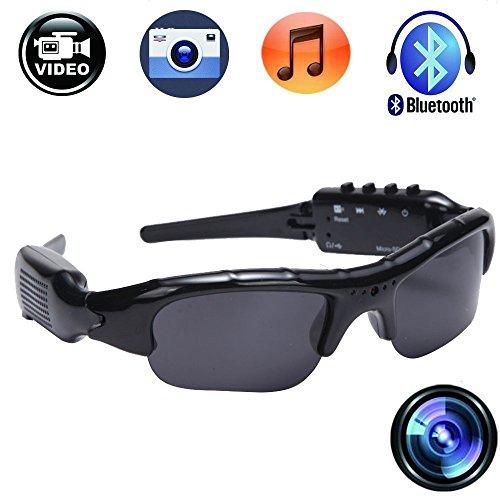 Wayli 720P Hidden Camera Sunglasses Video Recorder HD Camera Glasses With Bluetooth Handsfree Answer and MP3