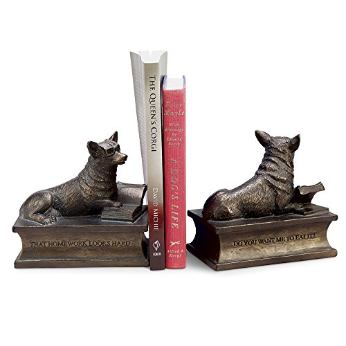 Puppy Bookends - Corgi Bookends