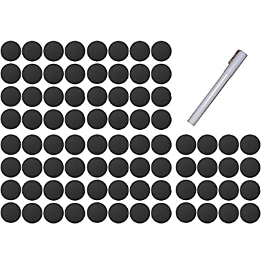 80 Round 2 Inch Chalkboard Canning Labels with Chalk Pen
