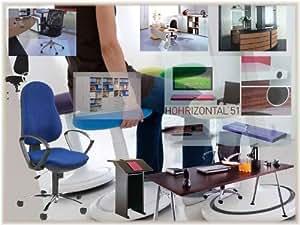 Escritorio call-center con canal para cables características: altura regulable sin especial, (tablero) Color: gris, color (estructura): azul