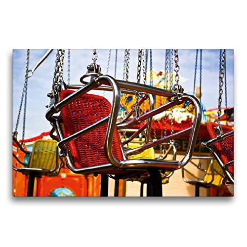 CALVENDO Toile de qualité supérieure - 75 cm x 50 cm - Siège carrousel - Tableau sur châssis - Impression sur Toile véritable Spass