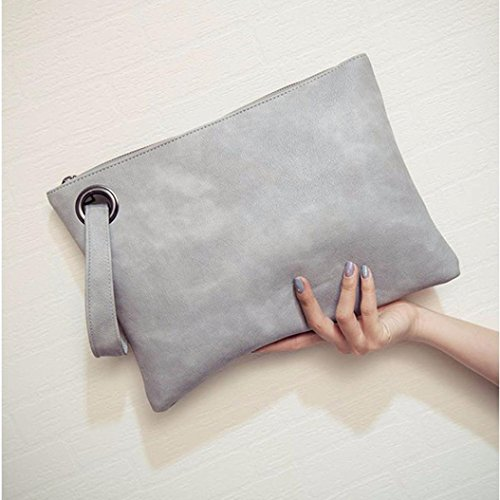 Simple En Embrayage Enveloppe Sac Clutches YUYOUG Femmes de Main Mode Rétro Cuir Soirée Sac Paquet à Gray ttq7Hf8