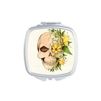 Flower Skull Skeleton Illustration Square     - Amazon com