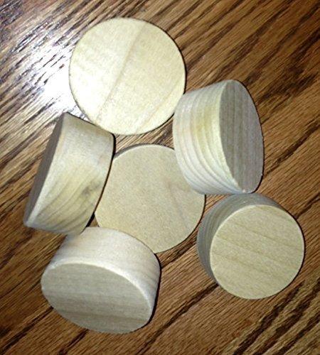 6 Wooden Bourbon Barrel Bungs, free shipping - Furniture Bourbon