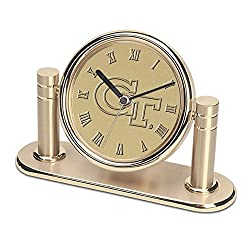 CSI Cannon Sports Georgia Tech Yellow Jackets Arcadia Desk Clock