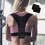 Fixget Unisex Adult zexuan Recta Plana, Espalda Hombro Ajustable Transpirable Corrección de Postura–Faja Deportiva (M), Type 1, M