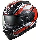 オージーケーカブト(OGK KABUTO)バイクヘルメット フルフェイス KAMUI3 ACCEL(アクセル) フラットブラックレッド (サイズ:L) 585846