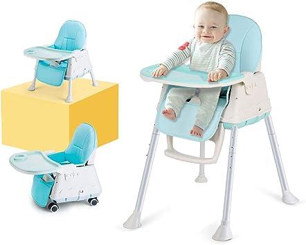 LADUO Chaise Haute Bebe 3 en 1 Évolutive, Réglable et