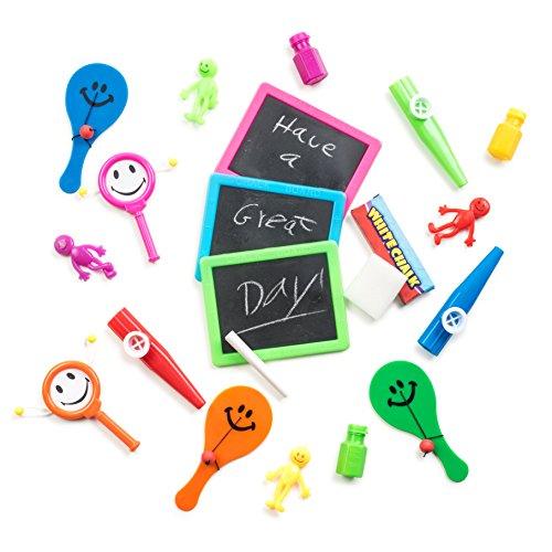 Neon Party Favors Bulk Toys Assortment, (72 Pc) Bulk Toys & Prizes for Birthday Party Favor Bags, Goody Bag Stuffers, Educational Toys, Prizes, Carnivals, Pinatas, Kids Wedding (Party Stuff)