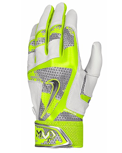 NIKE MEN''S MVP ELITE PRO 2.0 BATTING GLOVES, Volt/White, Size M by NIKE