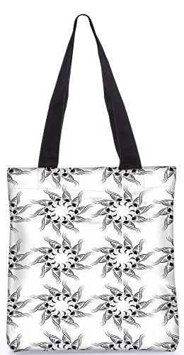 """Snoogg Floralen Design-Einkaufstasche 13,5 X 15 In """"Einkaufstasche Dienstprogramm Trage Von Polyester Canvas"""