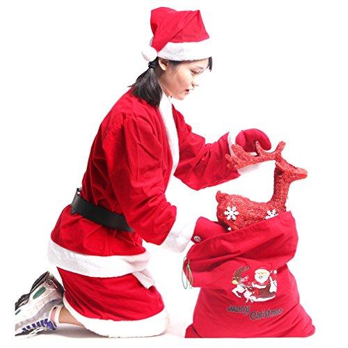 Women Cosplay Christmas Dress Professional Mrs. Claus Suit Set (Mrs Claus Dresses)