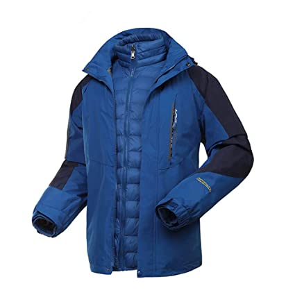 HXRYFC Chaqueta de esquí Hombre Mujer - Chaqueta a Prueba de Nieve, puños Ajustables,
