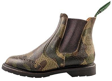 Np - Chaussures À Lacets En Cuir Pour Le Camouflage Vert Homme, Vert, Taille 41 Eu