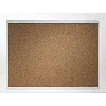 U brands cork linen bulletin board 20 x 30 for Linen cork board