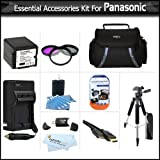 "Essential Accessories Kit For Panasonic HDC-TM700K HDC-HS700K HDC-SDT750K HDC-SD600 Camcorder Includes EXTENDED (3000Mah) Replacement Panasonic VW-VBG260 Battery + AC/DC Travel Charger + 3pc Filter Kit + Case + 57"" Tripod + HDMI Cable + USB Reader +More"