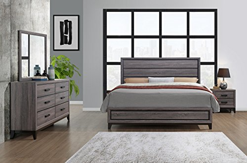 Global Furniture USA QB Kate Bed, Queen, Foil Grey