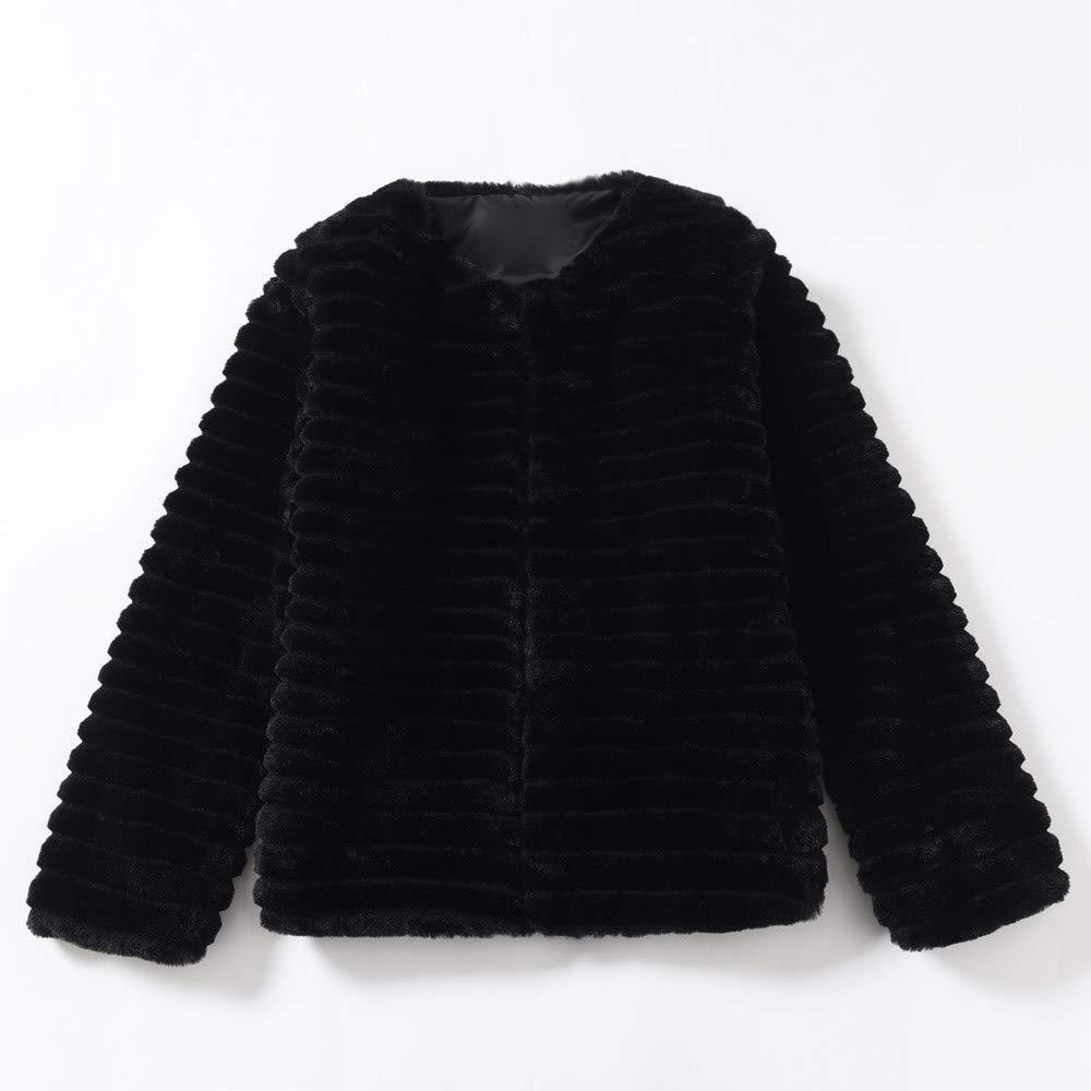 Pullover Sweatshirts for Women Crewneck,Womens Ladies Warm Faux Fur Coat Jacket Winter Gradient Color Parka Outerwear