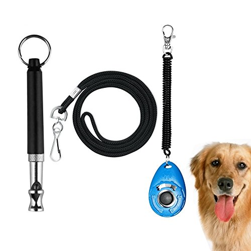 - Golvery Dog Training Whistle with Lanyard, Dog Whistles for Sonic Barking Deterrents, Dog Obedience Behavioral Aids with Adjustable UltraSonic Frequency and Dog Training Clicker with Wrist Strap
