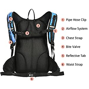 Best Hydration Reservoir: MIRACOL Hydration Backpack with 2L Water Bladde