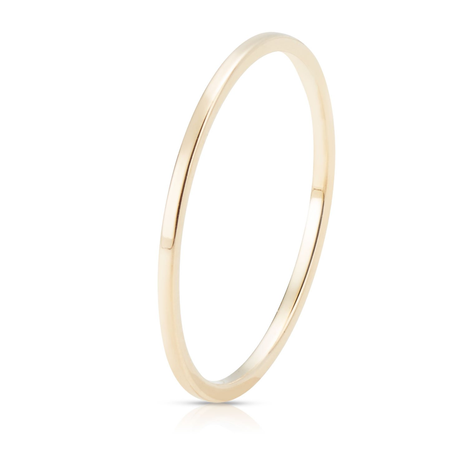Jewel Connection Real 14K Yellow Gold Petite Stackable Ring with Smooth Square Finish for Women and Girls (6) by Jewel Connection (Image #2)