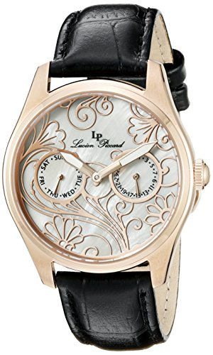 Lucien Piccard Women's LP-10147-RG-02MOP Love maze Analog Display Quartz Black Watch