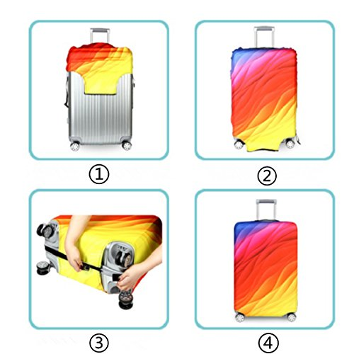 Bestja Washable Travel Luggage Cover Elastic Suitcase Trolley Protector Cover for 18-32 Inch Luggage (Love, S) by Bestja (Image #2)