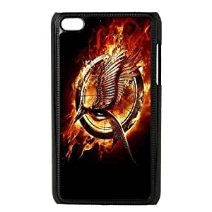 Durable Hard cover Customized TPU case The Hunger Games Catching Fire iPod Touch 4 Case Black