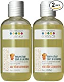 Nature's Baby Organics Shampoo & Body Wash, Vanilla Tangerine, 8 oz (2-Pack) Babies, Kids, & Adults! Natural, Moisturizing, Soft, Gentle, Rich, Hypoallergenic | No Chemicals, Parabens, SLS, Glutens
