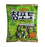 green grape candy - Korean Assorted Popular Fruit Flavored Candy Pieces (Green Grape 300g)