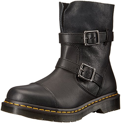 Dr. Martens Women's Kristy in Black Virginia Leather Boot, Black Virginia Leather, 7 Medium UK (9 US) by Dr. Martens