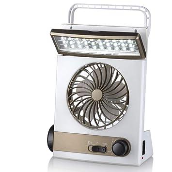 KKDWJ Ventilador de Escritorio Solar Luz led 45 ° Arriba y Abajo Ventilador de enfriamiento portátil silencioso para el hogar Caravan Caravana Invernadero ...