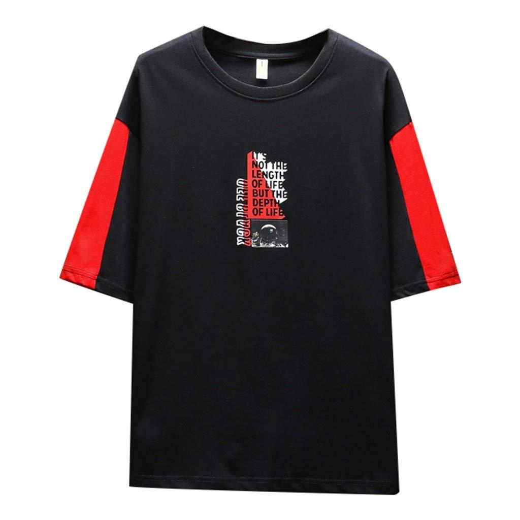 Yajiemen Mens Summer Fashionable Solid Colour Short Sleeve Comfortable Blouse